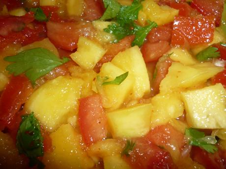 Mélange tomate mangue