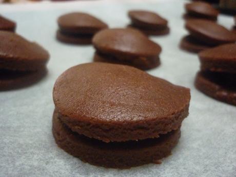 Biscuits tout chocolats avant cuisson
