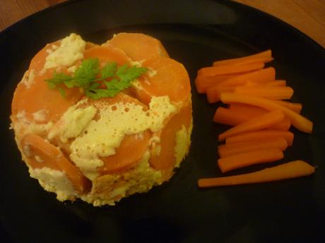 Flan à la carotte démoulé