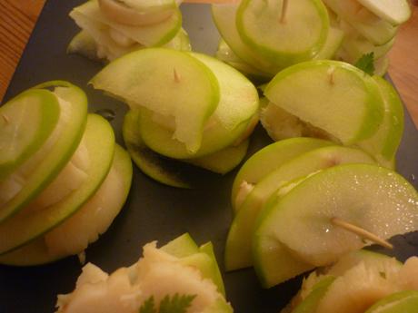 Millefeuille noix de saint jacques pomme