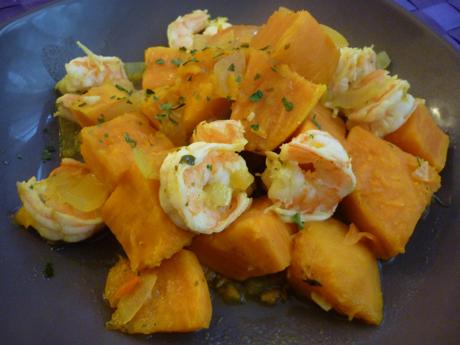 Colombo de crevettes et patates douces