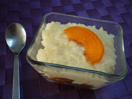 Riz au lait vanille abricot